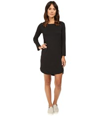 Alternative Apparel East Side Long Sleeve Cotton Modal Dress Black Women's Dress