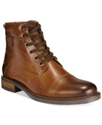 Alfani Jack Cap Toe Boots Only At Macy's Men's Shoes Brown