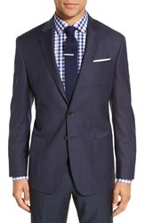 Todd Snyder Men's White Label 'May Fair' Trim Fit Plaid Wool Sport Coat Navy