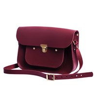 N'damus London Oxblood 11 Inches Mini Pocket Satchel Red