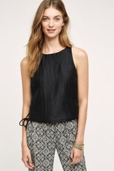 Anthropologie Minette Lace Up Shell Black
