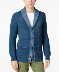 Tommy Hilfiger Men's Ivan Indigo Shawl Collar Cardigan