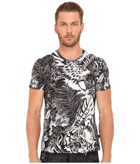 Just Cavalli Slim Fit Jungle Tattoo Printed T Shirt Black Variant