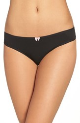 Betsey Johnson Women's Hipster Bikini Briefs Raven Black