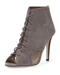 Sjp By Sarah Jessica Parker Marci Suede Lace Up Bootie Gray
