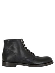 Dolce And Gabbana Siracusa Stone Wash Leather Ankle Boots