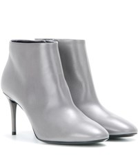 Balenciaga Leather Ankle Boots Grey