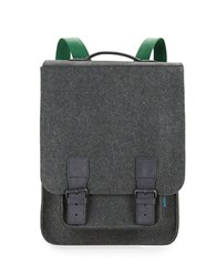 M R K T Kendrick Felt And Faux Suede Backpack Charcoal