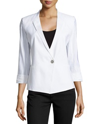 Paperwhite V Neck One Button Jacket