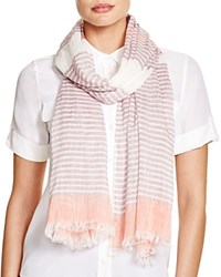 Fraas Striped Scarf Pink Coral