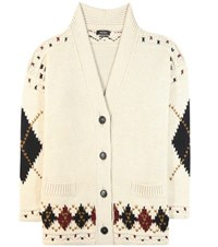 Isabel Marant Geena Wool And Alpaca Cardigan Beige