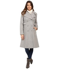 Jessica Simpson Double Breaster Military Duster Heather Grey Women's Coat Gray