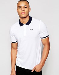 Jack And Jones Jack And Jones Pique Polo Shirt With Contrast Collar White