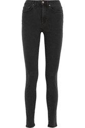 Acne Studios Pin High Rise Skinny Jeans Black