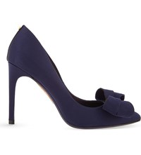 Ted Baker Statement Bow Satin Courts Dark Blue