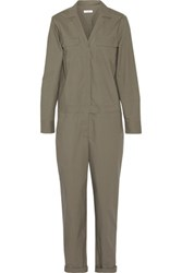 Equipment Blaise Washed Cotton Jumpsuit Army Green