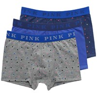 Thomas Pink Strand Jersey Boxer Briefs Pack Of 3 Blue Grey
