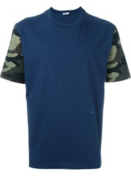 Christian Dior Dior Homme Camouflage Sleeve T Shirt Blue