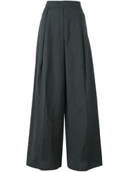 Brunello Cucinelli High Waisted Trousers Grey