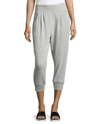 Marc Ny Performance Pleated Terry Lined Sweatpants Light Heather Gray