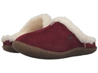 Sorel Nakiska Slide Garnet Red Women's Slippers Brown