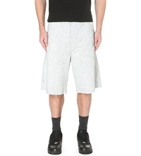 Blood Brother Cracked Leather Shorts White