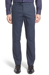 Ted Baker Men's London 'Roynew' Flat Front Pants Navy