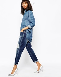 Sportmax Code Echi Jeans With Patchwork Midnightblue