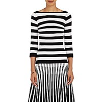 Tomas Maier Women's Striped Boat Neck Top No Color