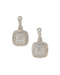 Judith Ripka Sterling Silver And White Sapphire Earrings