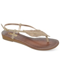 Carlos By Carlos Santana Tandy Sparkle Leaf Flat Thong Sandals Women's Shoes