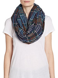 Modena Plaid Infinity Scarf Blue Multi