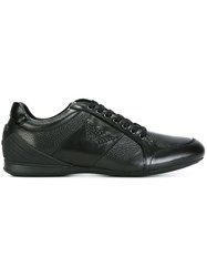Emporio Armani Panelled Sneakers Black