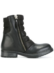 Diesel Round Toe Zipped Boots Black