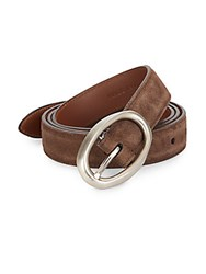 Brunello Cucinelli Suede Belt Brown