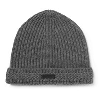 Belstaff Aldergrove Ribbed Virgin Wool And Cashmere Blend Beanie Gray