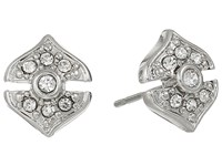 Vince Camuto Pave Studs Earrings Light Rhodium Earring Silver