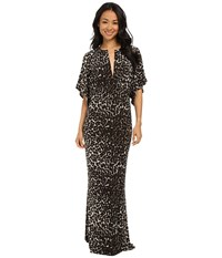 Norma Kamali Obie Gown Cheetah Women's Dress Animal Print