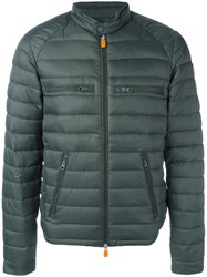 Save The Duck Zip Pocket Padded Jacket Green