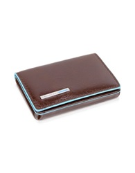 Piquadro Square Leather Card Case Brown