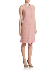 Anne Klein Embroidered Overlay Shift Dress Petal