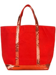 Vanessa Bruno Sequin Embellished Tote Red