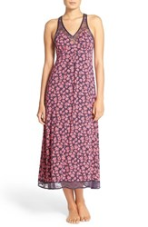 Women's Midnight By Carole Hochman Floral Jersey Maxi Nightgown