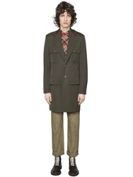 Maison Martin Margiela Wool Cotton Military Coat