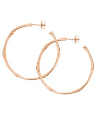 Dinny Hall Large Rose Gold Plated Bamboo Hoop Earrings