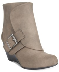 American Rag Coreene Cuffed Wedge Booties Only At Macy's Women's Shoes Taupe
