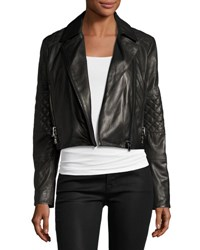 J Brand Adaire Leather Moto Jacket Black