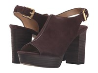 Michael Michael Kors Piper Sling Coffee Sport Suede Women's Shoes Brown