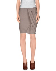 Have A Nice Day Knee Length Skirts Grey