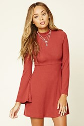 Forever 21 Ribbed Knit Cutout Skater Dress